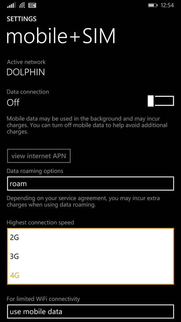 Nokia Lumia 1520 RM 937 in India is not showing 4G LTE spec