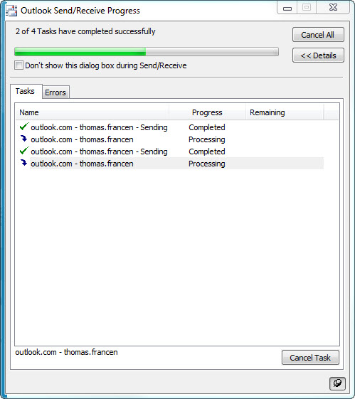 configuring outlook com within outlook 2010 w/microsoft