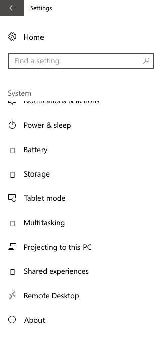 Windows 10 missing icon in settings  - Microsoft Community