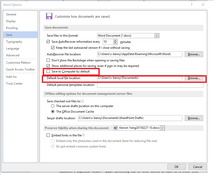 how to change open office to word defuslt