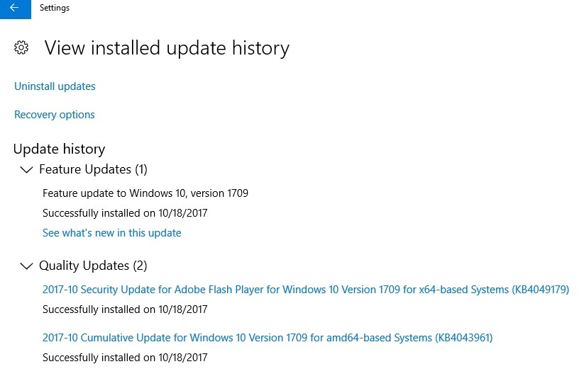 Windows 10 Fall Creators Update version 1709 is Now