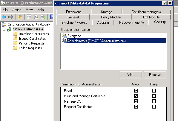 Certificate templates folder is missing microsoft tech community im using domain admin account to login on the certificate server these are the permissions yelopaper Gallery