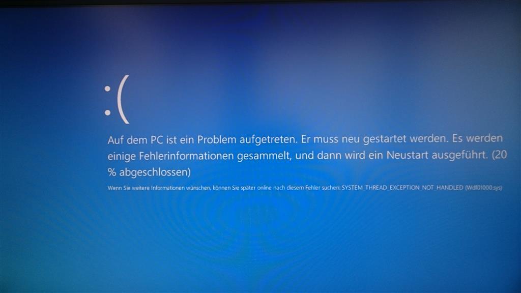 Problem bei Windows10 Installation (über Windows Update)