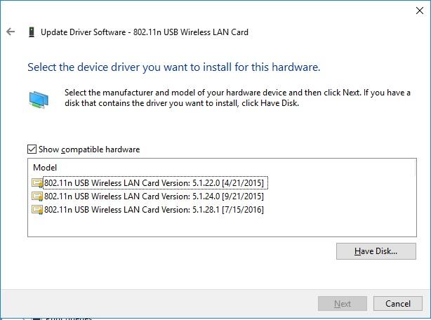 802.11 n usb wireless lan card driver windows 7