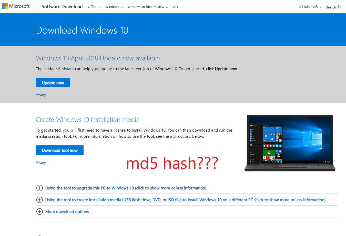 2 iso files are different  Where are Windows 10 ISO md5
