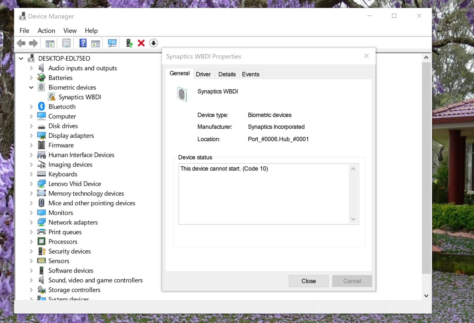 Windows Hello and Fingerprint scanner not working on Lenovo