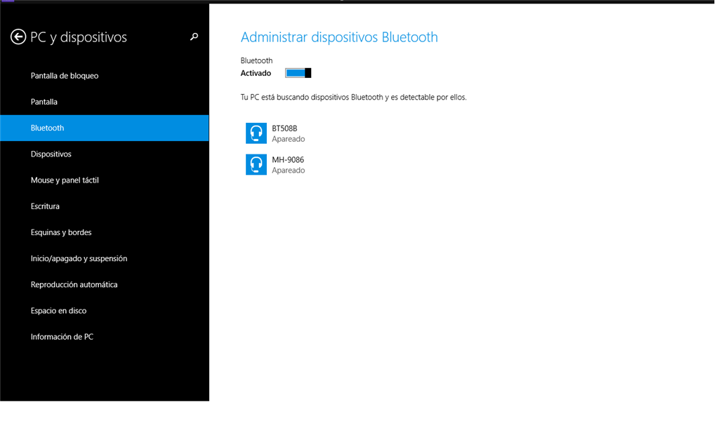 Windows 8.1 ≡ Audifonos bluetooth apareado pero sonido no
