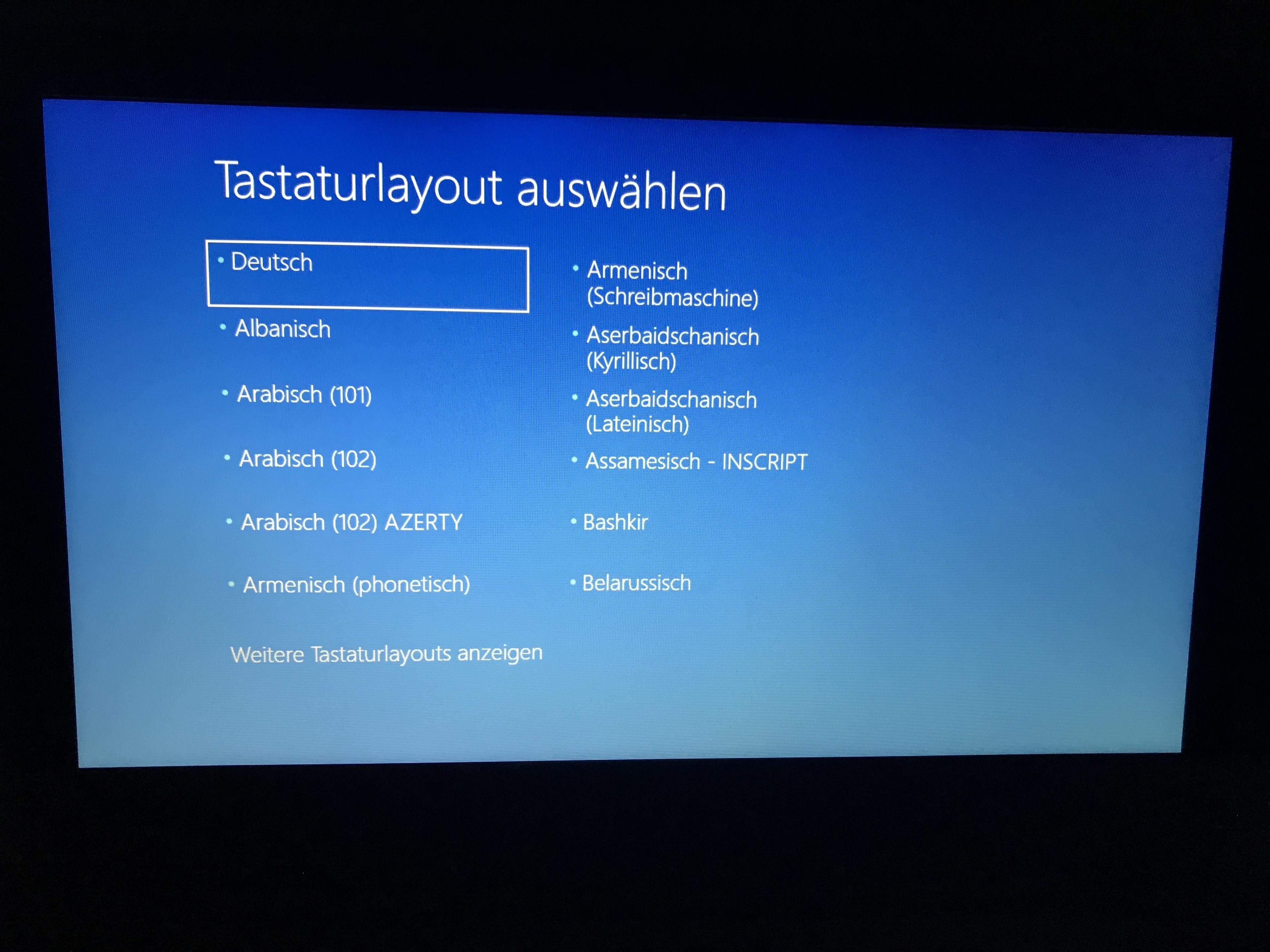 Windows 10 Startet nicht