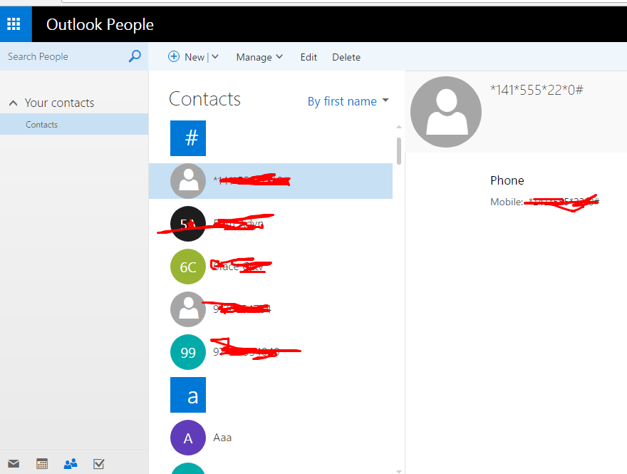 how to export all OUTLOOK PEOPLE CONTACTS in  VCF file