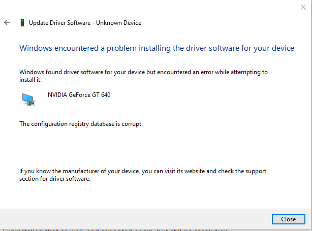 Nvidia Driver Installer Fails On Windows 10 - Microsoft Community