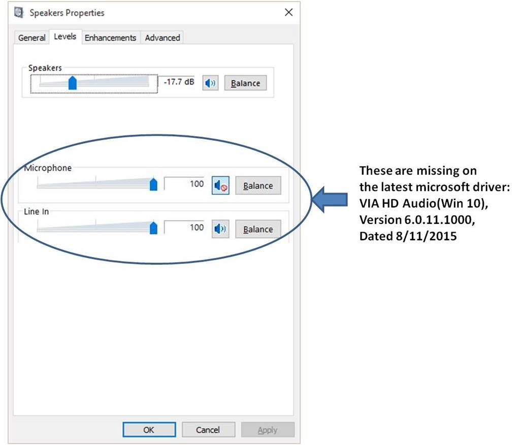 VIA HD Audio(Win10) driver issue - Microsoft Community