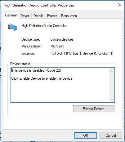 High Definition Audio Controller Driver Problem - Microsoft Community