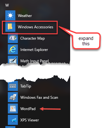 Wordpad - Microsoft Community