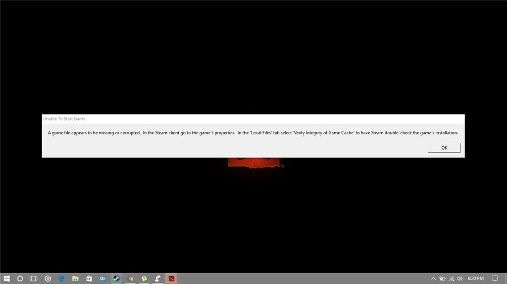 Steam Dota 2 have error after update insider build 15002 - Microsoft
