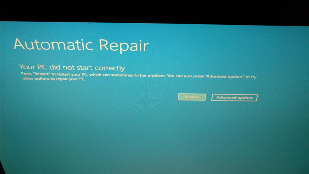 windows auto repair not working