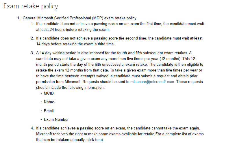Certification Exam Policies & FAQs | Microsoft Learning
