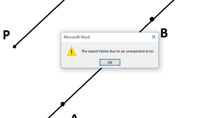Word 2016 - Cant print if shapes grouped  There is not enough memory
