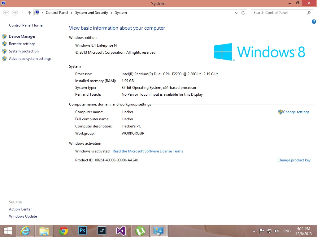 product key win 8 enterprise