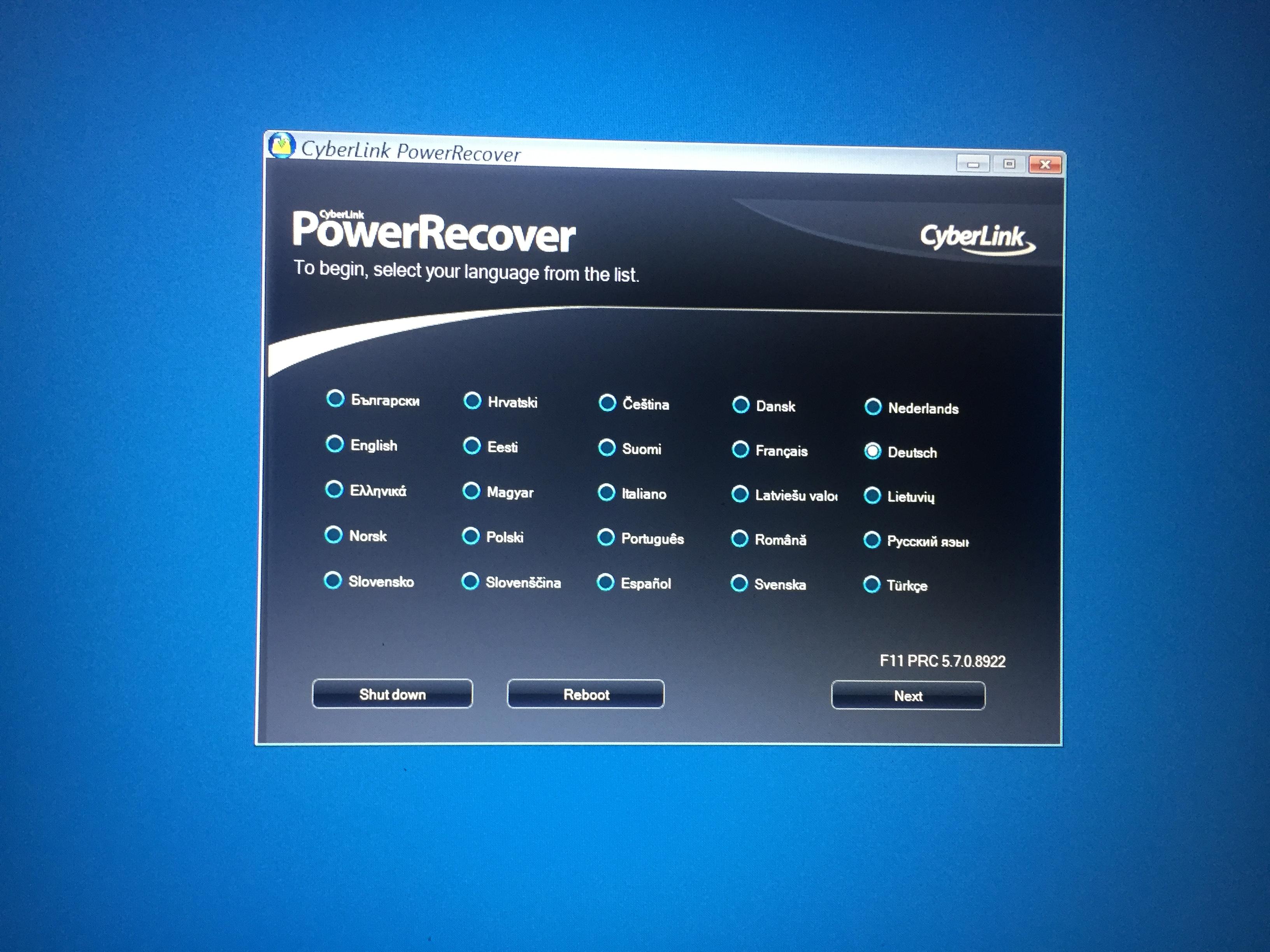 CyberLink PowerRecover Wiederherstellung Endlosschleife