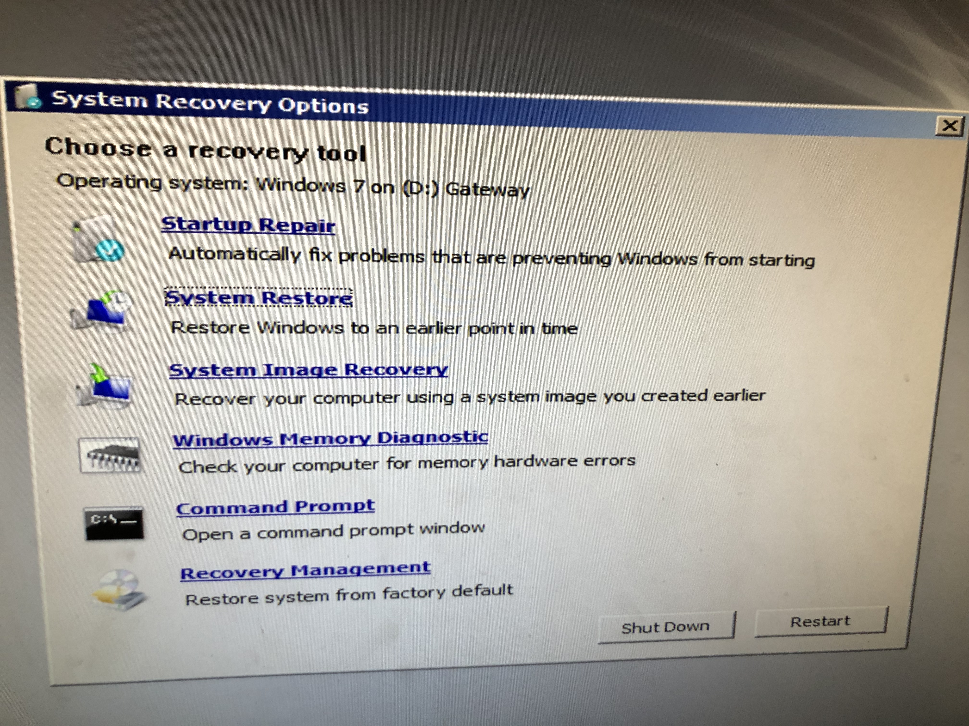 system recovery cmd prompt windows 7