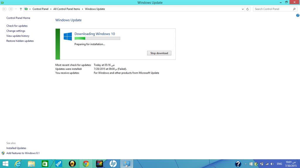 Windows update stuck in preparing to install windows xp directx 11 update
