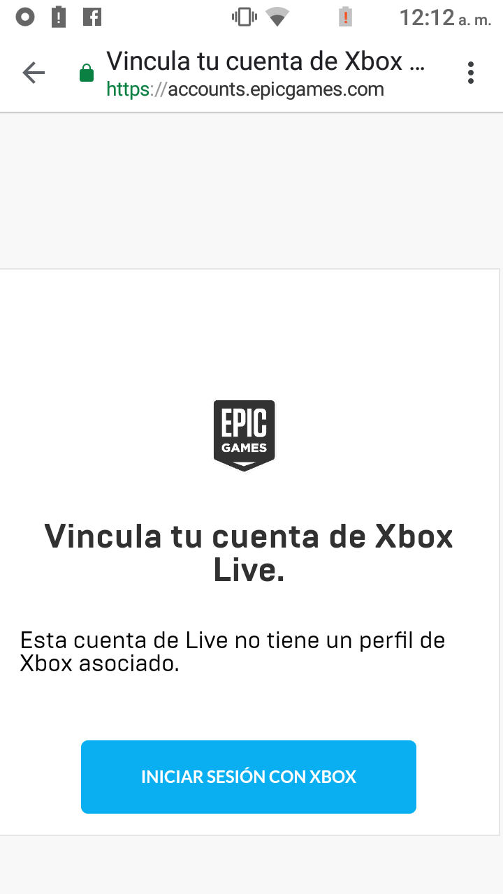 No puedo vincular mi cuenta de xbox a epic games en pc [Translation - I can not link my... [​IMG]