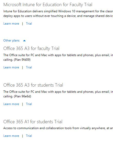 Help getting Office 365 A1 for Faculty working - Non trial version