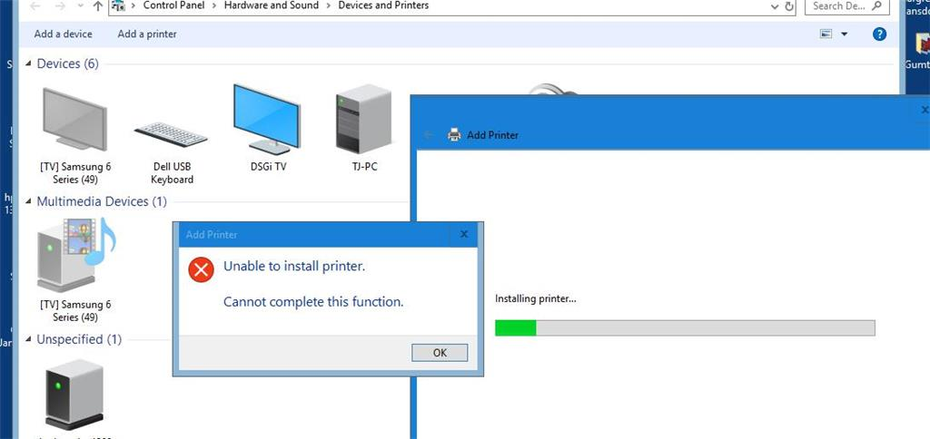 HP Printer wont install - Microsoft Community