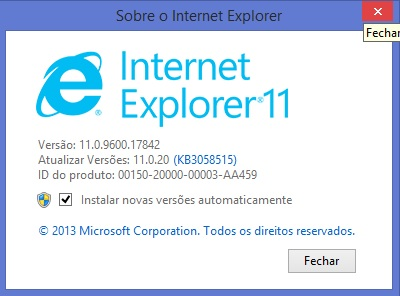 atualizar internet explorer 11