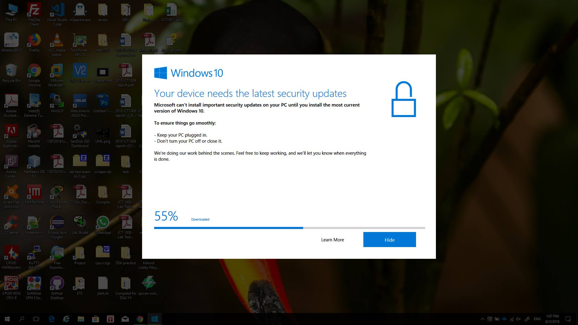 Windows 10 - 1703 forced upgraded to 1709 and got corrupted during