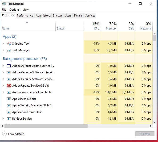 latest windows 10 update slows computer