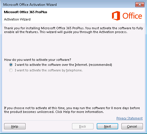 activate office pro plus 2013