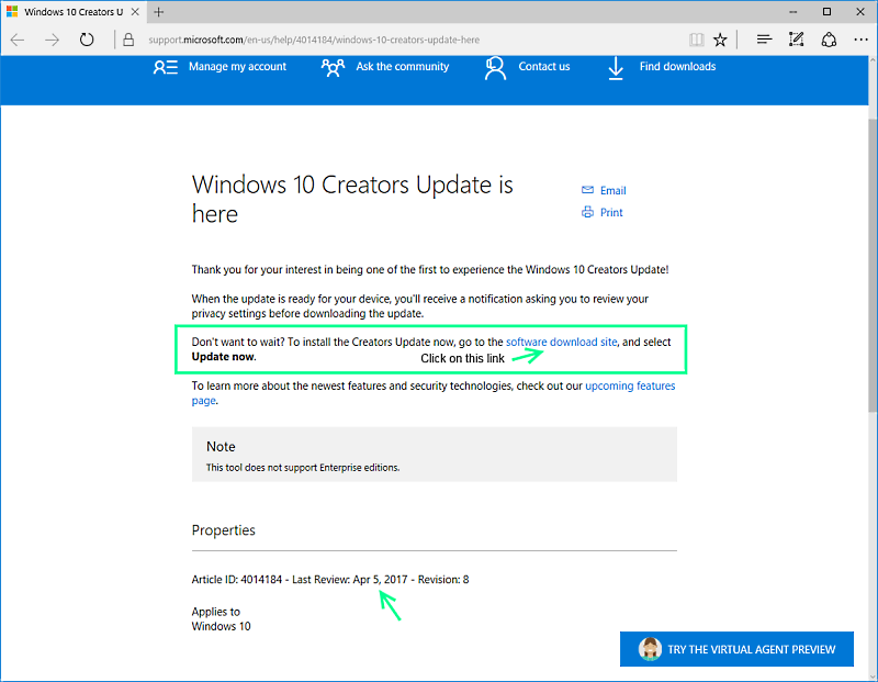 Windows 10 Creators Edition Update - Still waiting, Here's how to