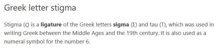 Word 2016 Symbol Unicode Name Error Greek Letter Stigma