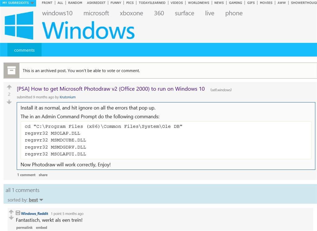Microsoft photodraw 2000 v2 download