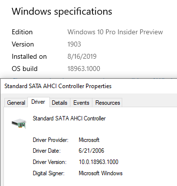 microsoft ahci driver windows 10 download
