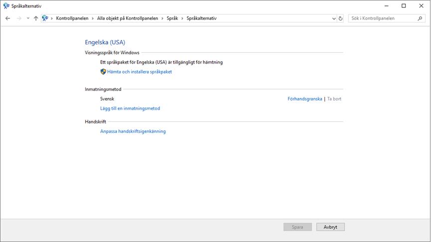 Changing display language on Windows 10 Enterprise