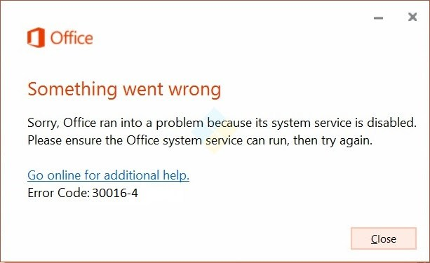 Office Error Code 30000-# to 30099-# - Part 3 of 4