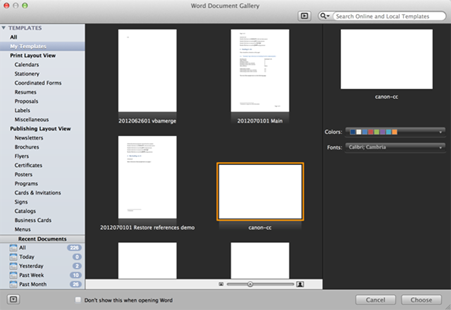 show developer tab in word 2011 mac
