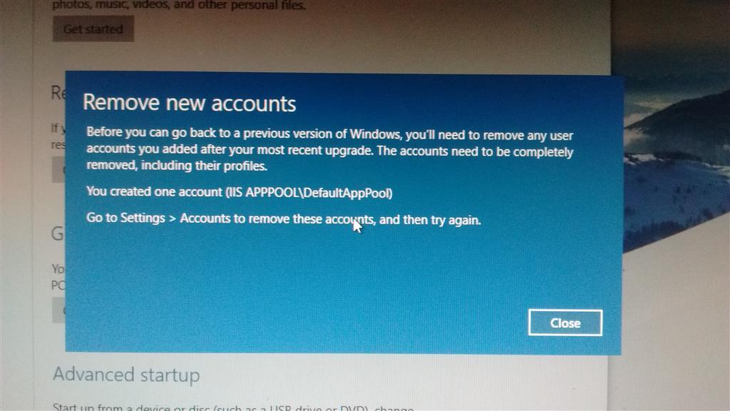 Trouble Reverting Back To Windows Microsoft Community