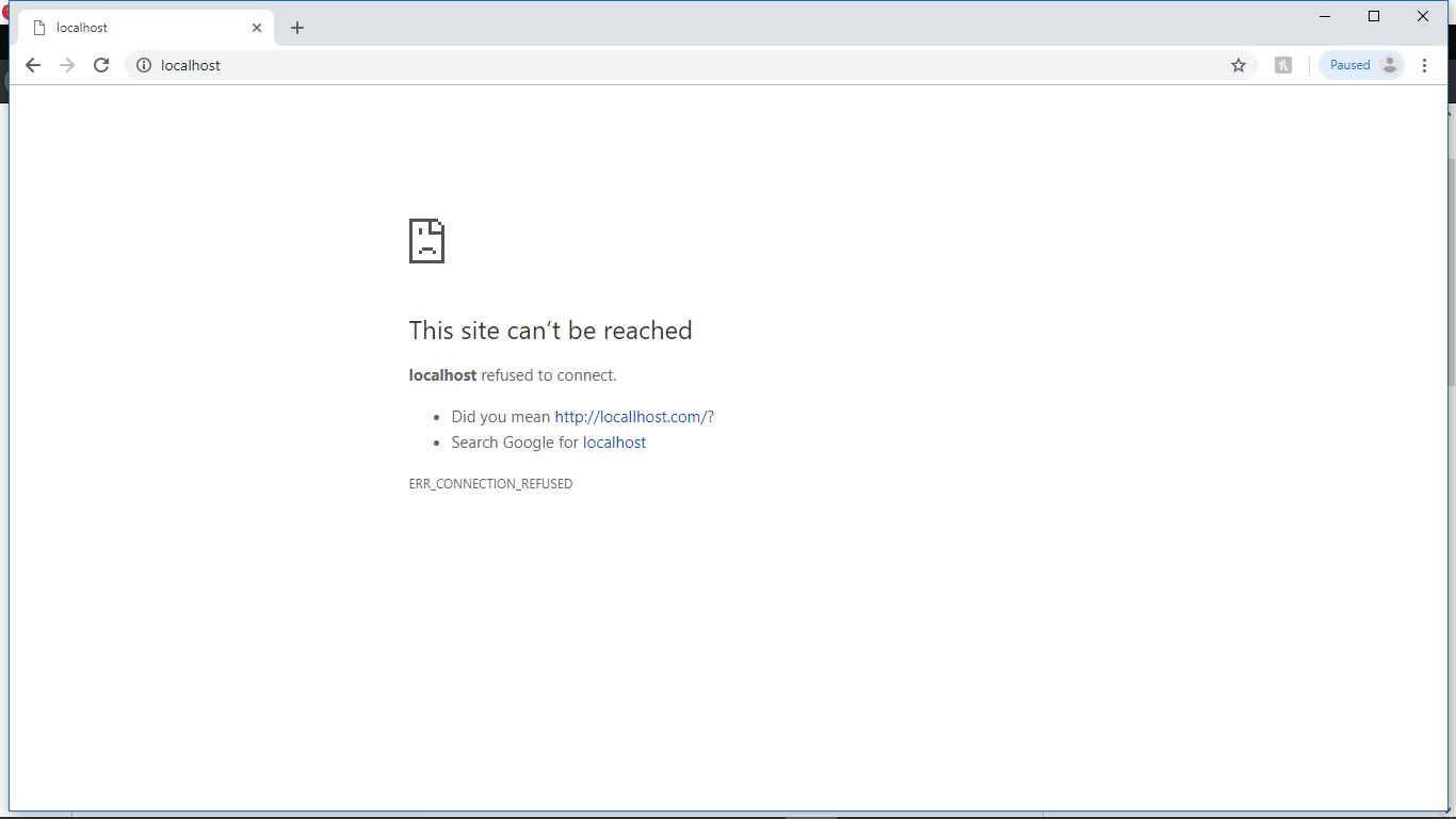 I am not able to access the local host  - Microsoft Community