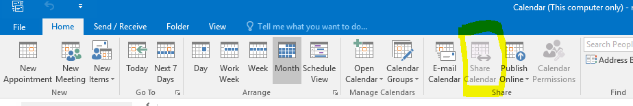 share outlook calnders 2 way microsoft community