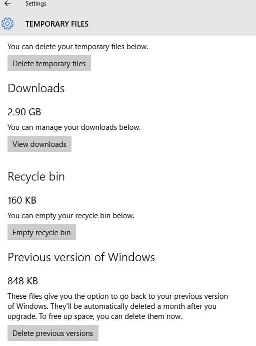 cant delete temporary files