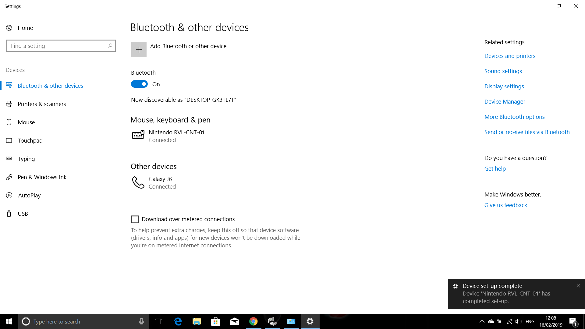 Trying to connect a Wii Remote to Windows 10 through Bluetooth - and