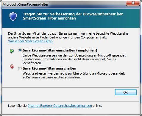 Mysterious SmartScreen-Filter activation in Internet Explorer 11