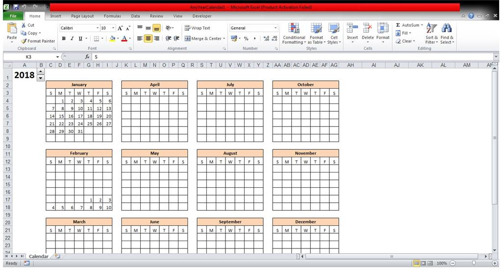 How To Fill In The Excel Calendar Template Month By Month