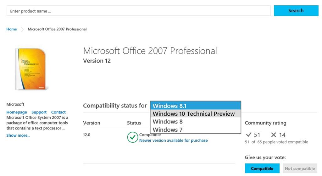 is microsoft office compatible with windows 10