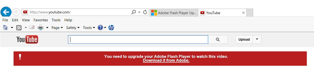 Adobe Flash Player Update - Microsoft Community