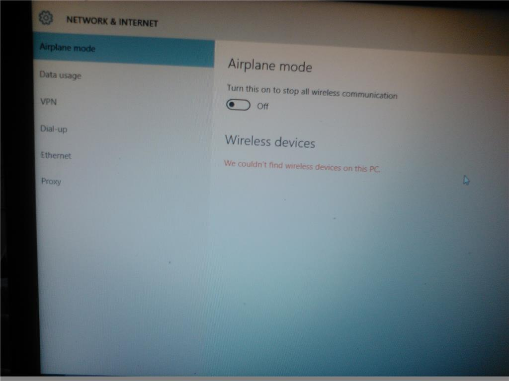 Windows 10, can't connect to WiFi, stuck in AirPlane mode