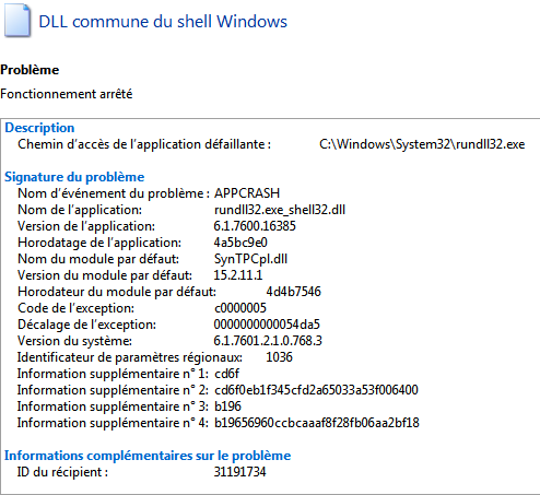 dll commune du shell windows 7